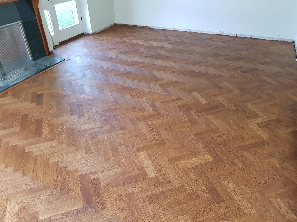 Installation of Herringbone Parquet